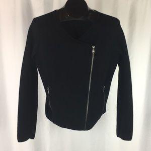 Loft Asymmetrical Zip-Up Cardigan Sweater M